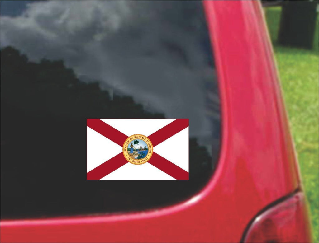 Florida State Flag Vinyl Decal Sticker Full Color/Weather Proof.