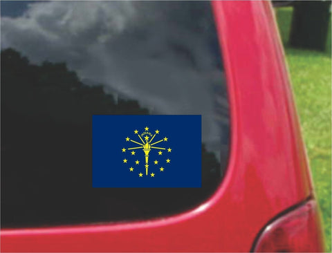 Indiana State Flag Vinyl Decal Sticker Full Color/Weather Proof.