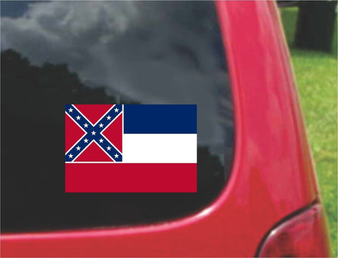 Mississippi State Flag Vinyl Decal Sticker Full Color/Weather Proof.