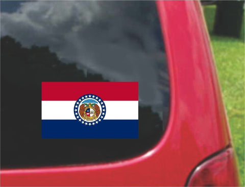 Missouri State Flag Vinyl Decal Sticker Full Color/Weather Proof.