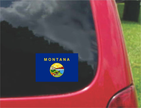 Montana State Flag Vinyl Decal Sticker Full Color/Weather Proof.