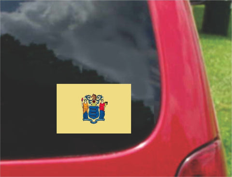 New Jersey State Flag Vinyl Decal Sticker Full Color/Weather Proof.