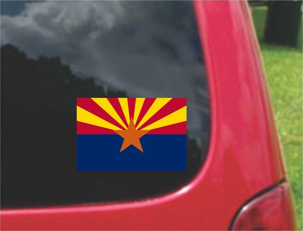 Arizona State Flag Vinyl Decal Sticker Full Color/Weather Proof.