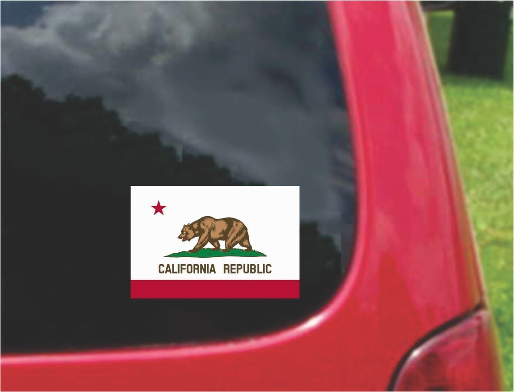 California State Flag Vinyl Decal Sticker Full Color/Weather Proof.