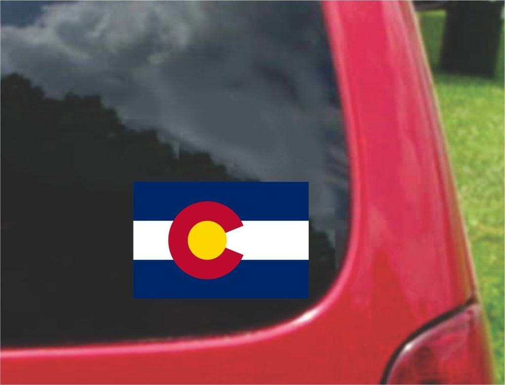 Colorado State Flag Vinyl Sticker Decal Full Color/Weather Proof.