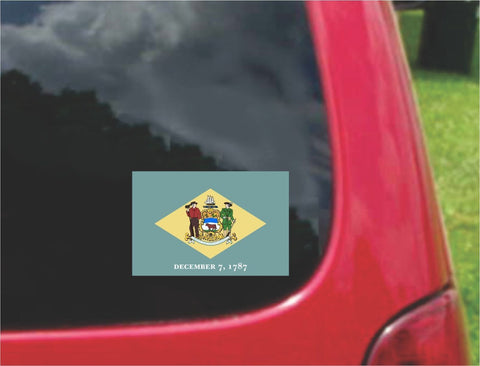 Delaware State Flag Vinyl Decal Sticker Full Color/Weather Proof.