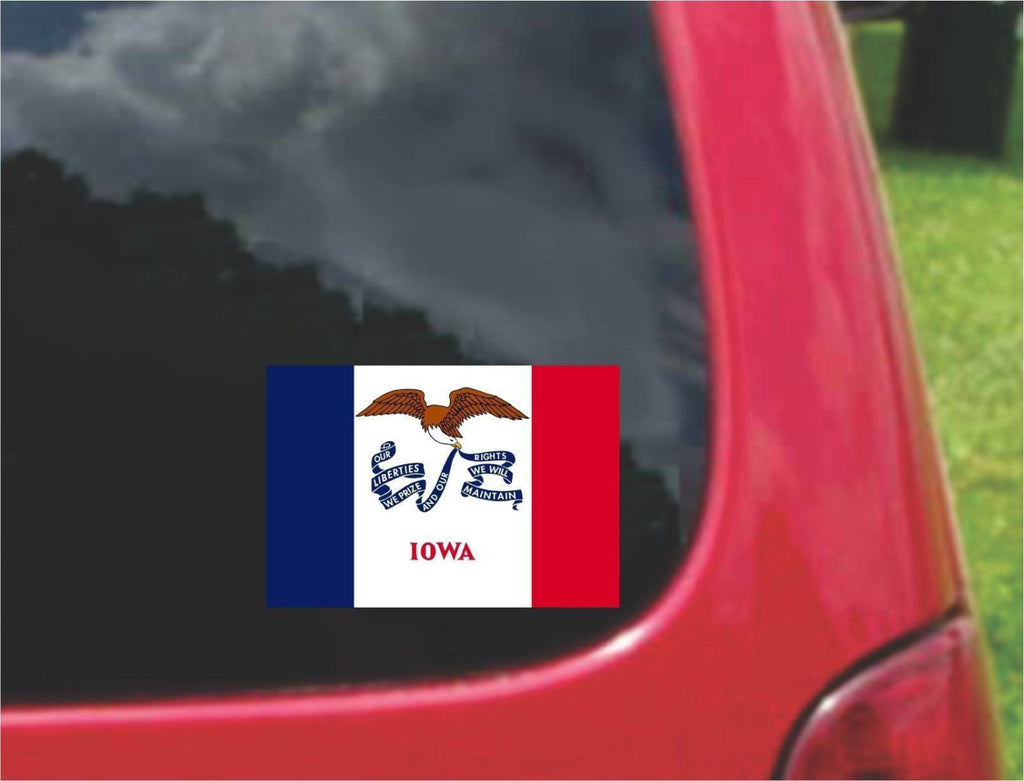 Iowa State Flag Vinyl Decal Sticker Full Color/Weather Proof.