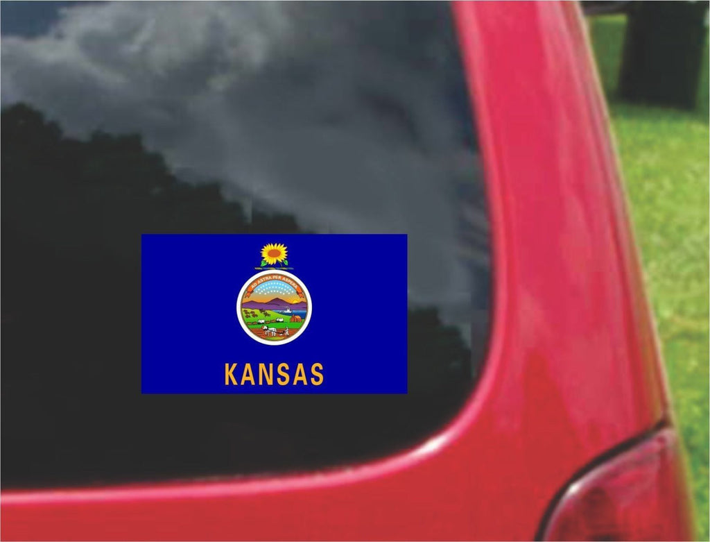 Kansas State Flag Vinyl Decal Sticker Full Color/Weather Proof.