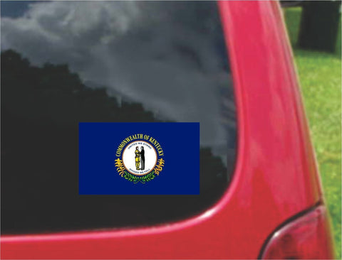 Kentucky State Flag Vinyl Decal Sticker Full Color/Weather Proof.