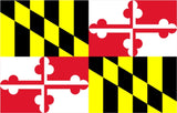 Maryland State Flag Vinyl Decal Sticker Full Color/Weather Proof.