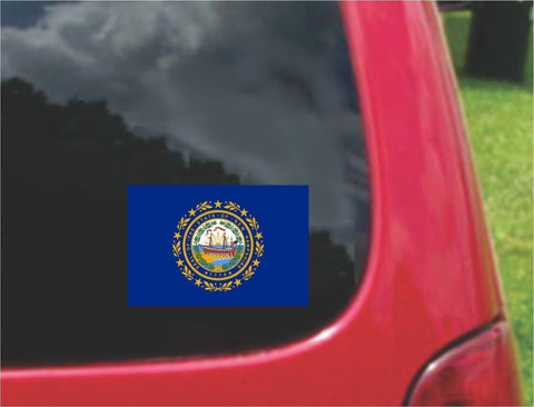 New Hampshire State Flag Vinyl Decal Sticker Full Color/Weather Proof.