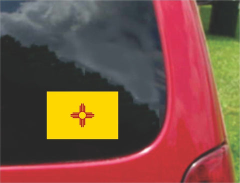 New Mexico State Flag Vinyl Sticker Decal Full Color/Weather Proof.