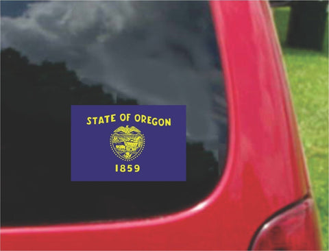 Oregon State Flag Vinyl Sticker Decal Full Color/Weather Proof.