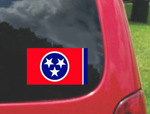 Tennessee State Flag Vinyl Sticker Decal Full Color/Weather Proof.