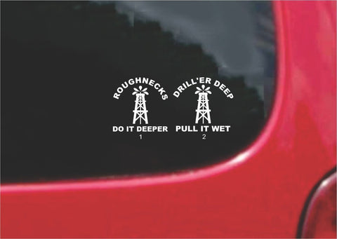 Roughneck Oilfield Sticker Decal 20 Colors To Choose From.