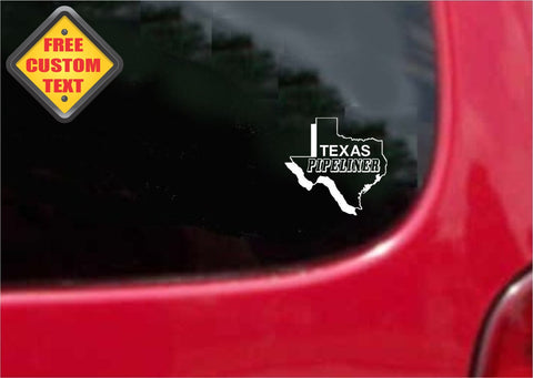 Texas Pipeliner Sticker Decal 20 Colors To Choose From.
