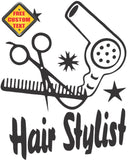 Hair Stylist Sticker Decal