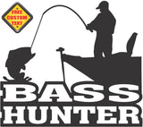 Bass Hunter Sticker Decal 20 Colors To Choose From.
