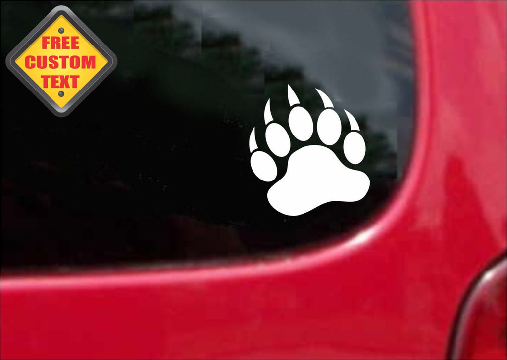 Bear Paw Sticker Decal 20 Colors To Choose From.