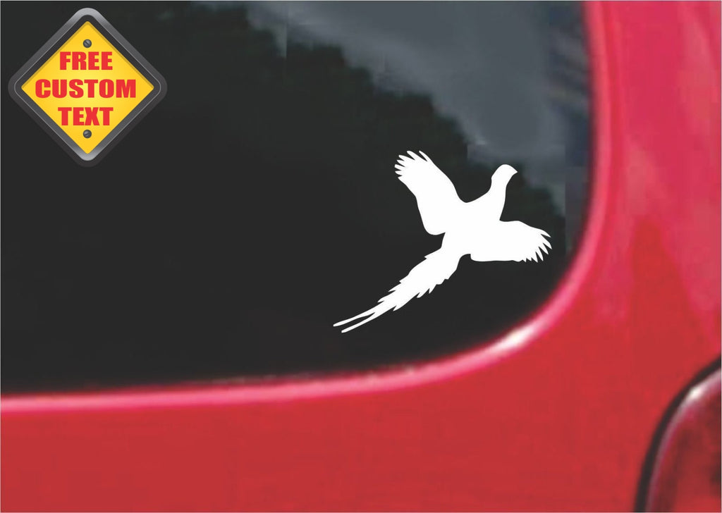 Pheasant Flying Sticker Decal 20 Colors To Choose From.