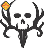 Deer Hunting with Skull Sticker Decal 20 Colors To Choose From.