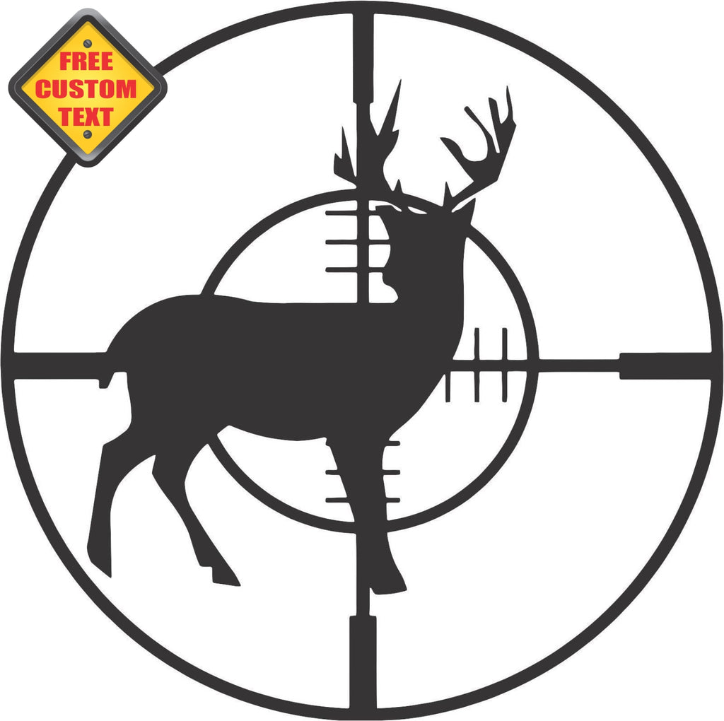 Deer Hunting Target Sticker Decal 20 Colors To Choose From.