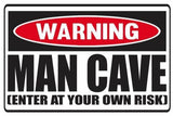 Funny Warning Man Cave Vinyl Sticker Decal Full Color/Weather Proof.