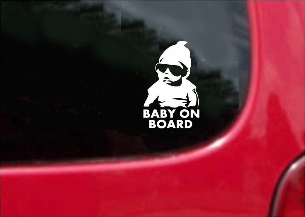 Baby on Board Carlos Hangover Sticker Decal 20 Colors To Choose From.