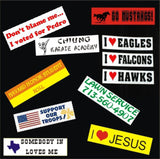 "Custom Bumper Sticker Decal 3""x 11"" Full Color/Weather Proof."