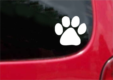 Dog Paw Sticker Decal 20 Colors To Choose From.