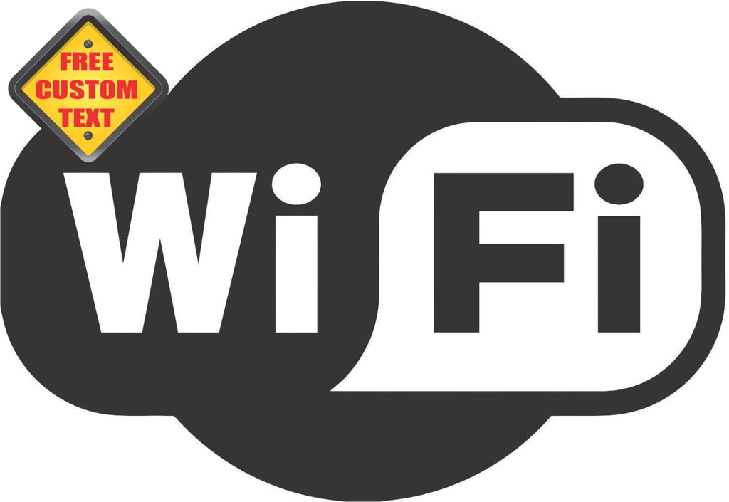 Wi Fi Sticker Decal 20 Colors To Choose From.