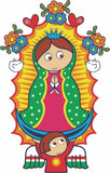 Our Lady Of Guadalupe Virgen Sticker Decal Full Color/Weather Proof.