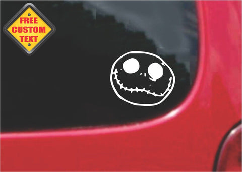 Jack Skellington Sticker Decal 20 Colors To Choose From.