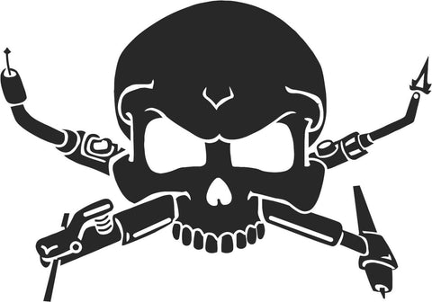 Welders Skull Sticker Decal 20 Colors To Choose From.