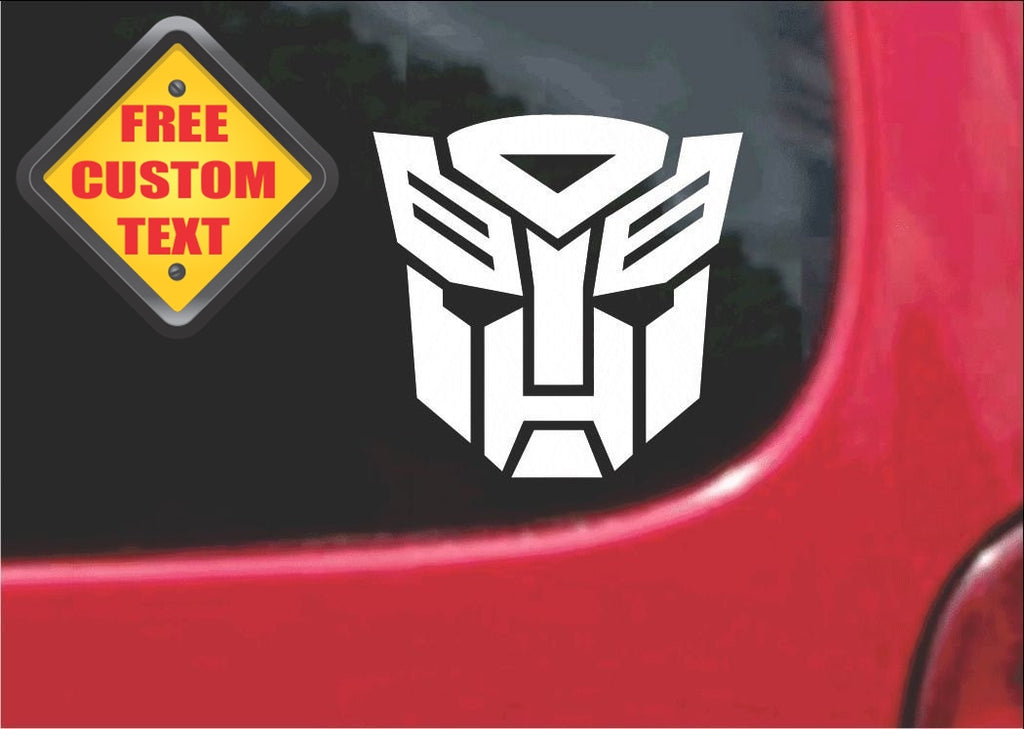 Autobot Transformers Sticker Decal 20 Colors To Choose From.