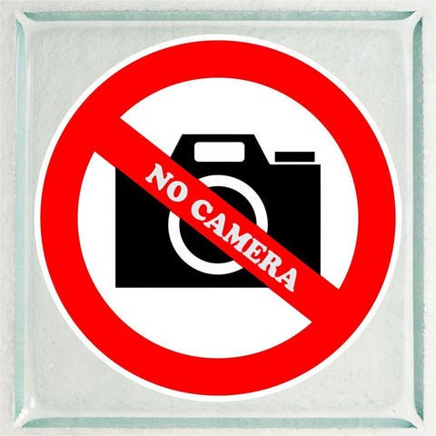 Set of No Camera / Pictures Warning Sign Sticker Decals Full Color/Weather Proof.
