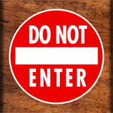 Set of Do Not Enter Warning Sign Sticker Decals Full Color/Weather Proof.