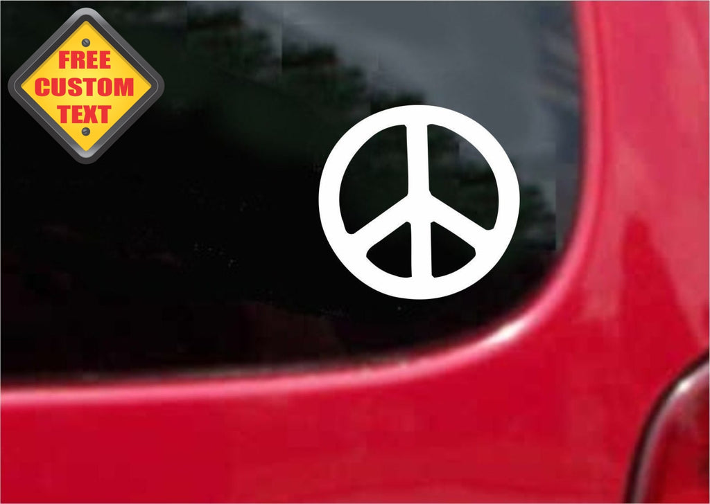 Peace and Love Sticker Decal 20 Colors To Choose From.