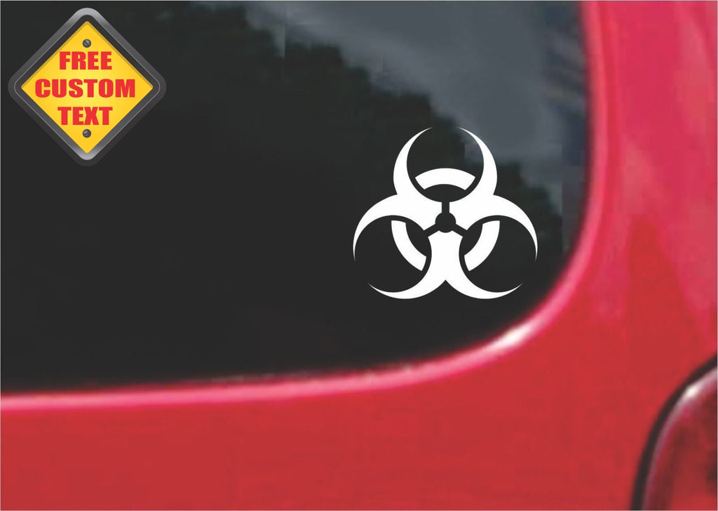 Bio Hazard Sticker Decal 20 Colors To Choose From.