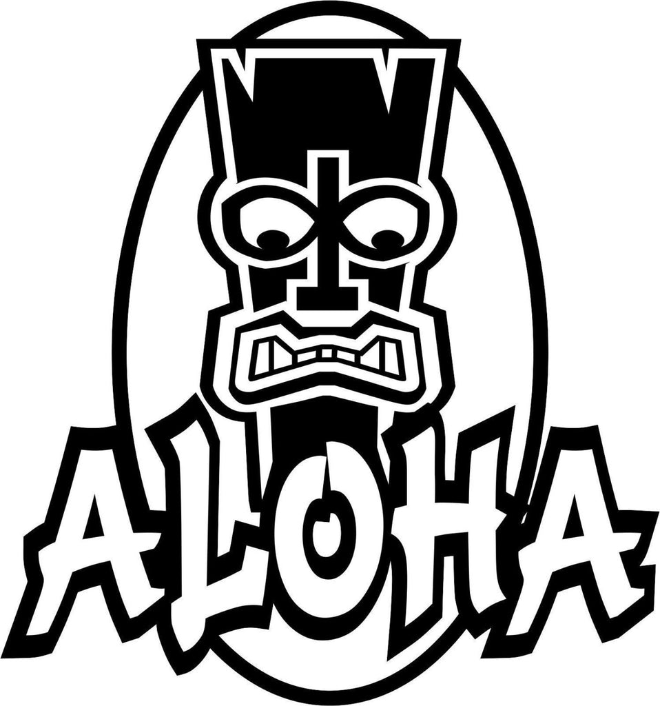 Aloha Hawaii Sticker Decal 20 Colors To Choose From.