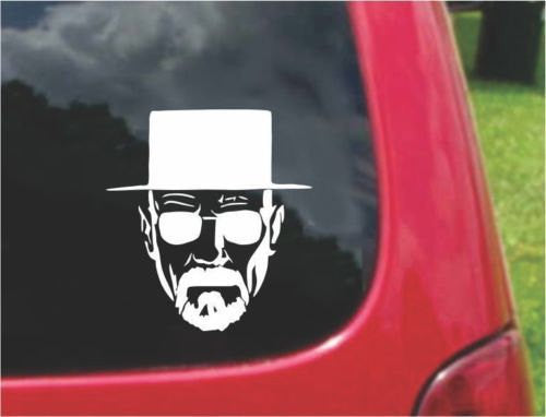 BREAKING BAD Heisenberg Walter Sticker Decal 20 Colors To Choose From.