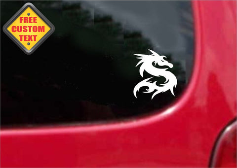 Tribal Dragon Sticker Decal 20 Colors To Choose From.