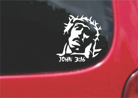 Jesus Christ John 3:16 Sticker Decal 20 Colors To Choose From.