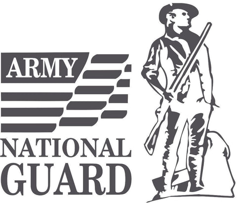 Army National Guard Sticker Decal 20 Colors To Choose From.