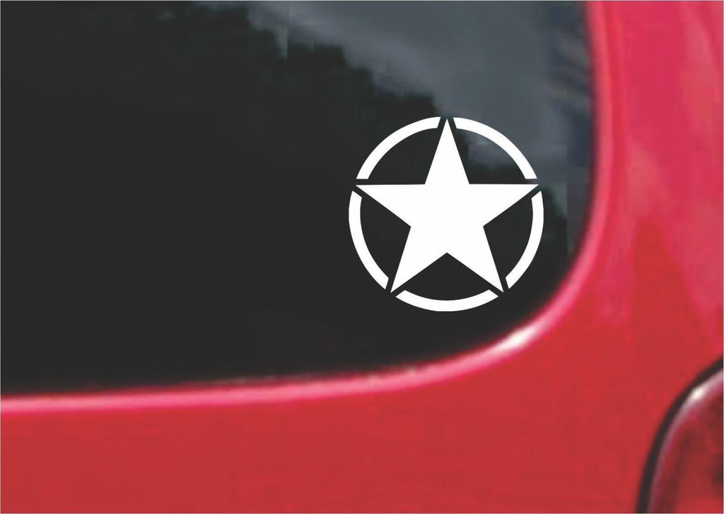 Military Invasion Star Sticker Decal 20 Colors To Choose From.