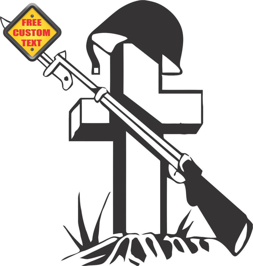 Soldiers Grave Sticker Decal 20 Colors To Choose From.