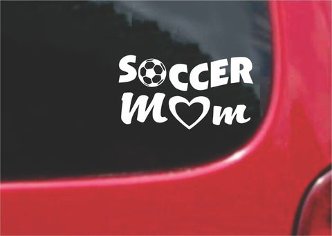 Soccer Mom Sticker Decal with custom text 20 Colors To Choose From.