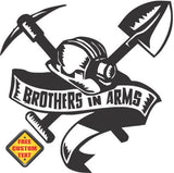 Coal Miners Brothers in Arms Sticker Decal 20 Colors To Choose From.