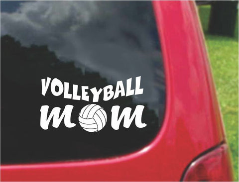 VolleyBall Mom Sticker Decal with custom text 20 Colors To Choose From.