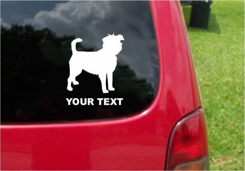 Affenpinscher Dog Sticker Decal with custom text 20 Colors To Choose From.